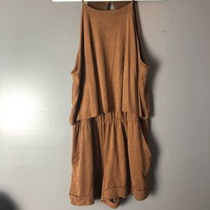 Soft Brown Romper with Pockets!!